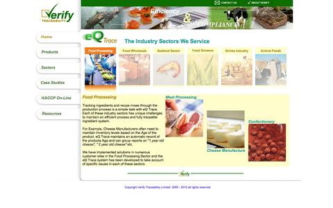 Screenshot of Landing Page verifytraceability.com - Verify Traceability - affordable, integrated, software links with your accounts package - captured Oct. 27, 2014