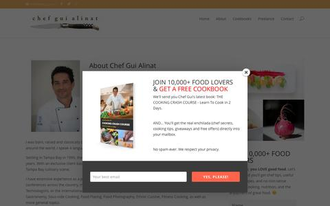 Screenshot of About Page chefgui.com - About | chef gui alinat - captured Nov. 5, 2016