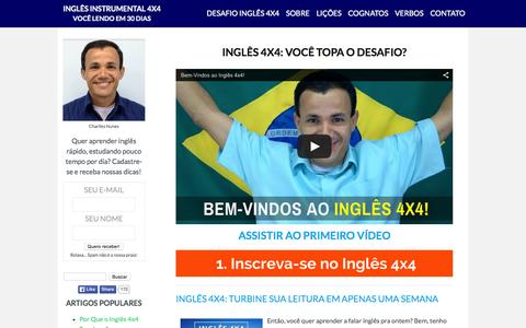 Screenshot of Home Page aprenda-ingles-agora.com - Aprenda Inglês Agora - Para Você Aprender Inglês Grátis! - captured Sept. 1, 2015