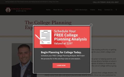 Screenshot of Team Page collegeplanningexperts.com - College Planning Expert Team - captured July 20, 2018