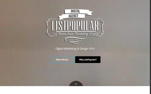 Screenshot of Home Page listpopular.com - Digital Marketing Agency Toronto   ListPopular - captured Sept. 30, 2014