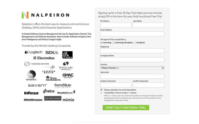 Nalpeiron Software Licensing & Analytics Trial