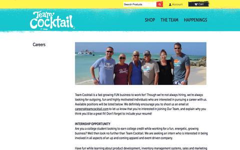 Screenshot of Jobs Page teamcocktail.com - Careers – Team Cocktail - captured Oct. 25, 2017