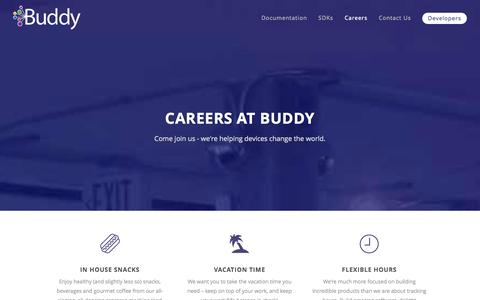 Screenshot of Jobs Page buddy.com - Careers   Buddy.com - captured Sept. 13, 2014