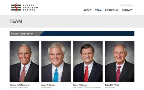 Screenshot of Team Page energyspectrum.com - Energy Spectrum | Team - captured July 11, 2018