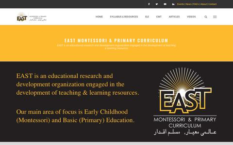 Screenshot of About Page east.education - EAST - Educational Assessment System and Training - captured Sept. 25, 2018