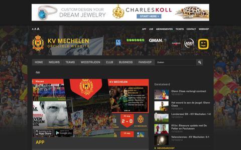 Screenshot of FAQ Page kvmechelen.be - App - captured Nov. 2, 2014