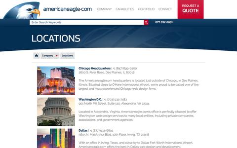 Screenshot of Locations Page americaneagle.com - Locations | Americaneagle.com - captured March 5, 2016