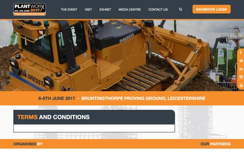 Screenshot of Terms Page plantworx.co.uk - Terms and Conditions   Plantworx - captured May 12, 2017