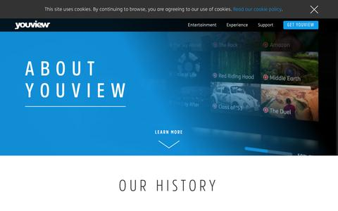 Screenshot of About Page youview.com - About Us - YouView - captured May 9, 2017