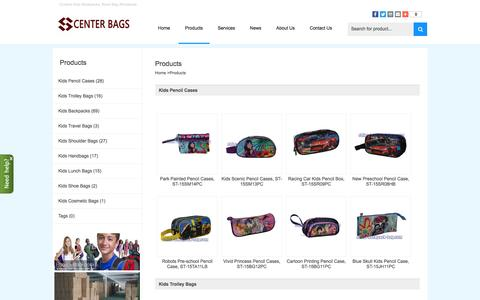 Screenshot of Products Page china-backpack-bag.com - Custom Kids Backpacks, Book Bag Wholesale - Kids Backpacks - captured May 5, 2017