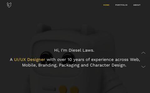 Screenshot of Home Page diesellaws.com - Diesel Laws - UI/UX Designer - captured Nov. 24, 2016