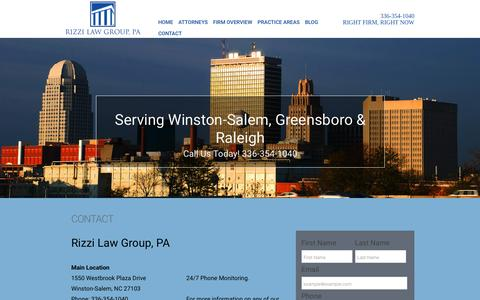Screenshot of Contact Page rizzilawgroup.com - Rizzi Law Group - Contact Us - captured May 2, 2017
