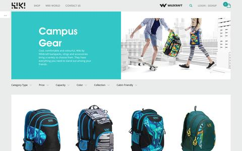 Screenshot of wildcraft.in - Wiki by Wildcraft - Explore funky new bags for college & school - captured March 19, 2016