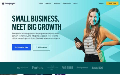 Leadpages® Landing Page Builder & Lead Gen Software