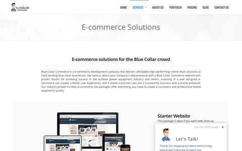 Screenshot of Services Page bluecollarcommerce.com - E-commerce Solutions | eCommerce Stores By Blue Collar Commerce - captured Feb. 8, 2016