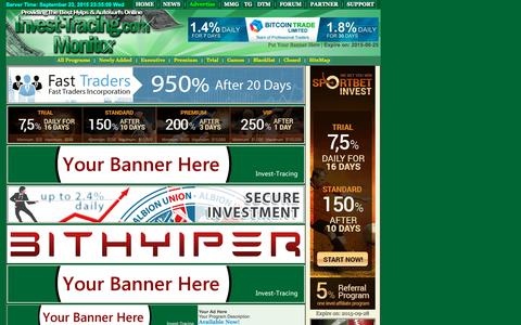 Screenshot of Support Page invest-tracing.com - Contact Us - Invest-Tracing.com - Professional Hyip Monitor Service Online Since 2006, Daily Update,Fast Response - captured Sept. 23, 2015
