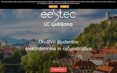 Screenshot of Home Page eestec-lj.org - Domov | EESTEC LC Ljubljana - captured Sept. 25, 2018