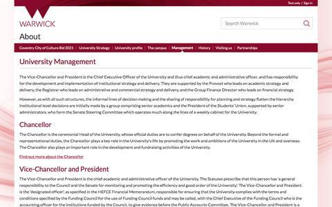 Screenshot of Team Page warwick.ac.uk - University Management - captured Sept. 29, 2017