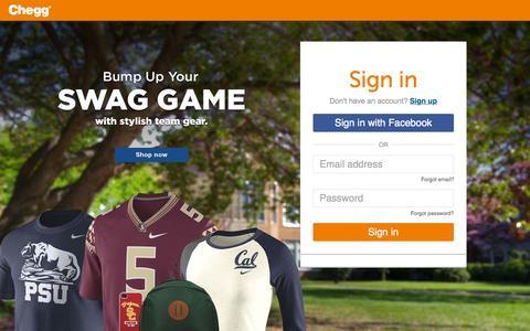 Screenshot of chegg.com - Sign In or Sign Up | Chegg.com - captured Oct. 1, 2015