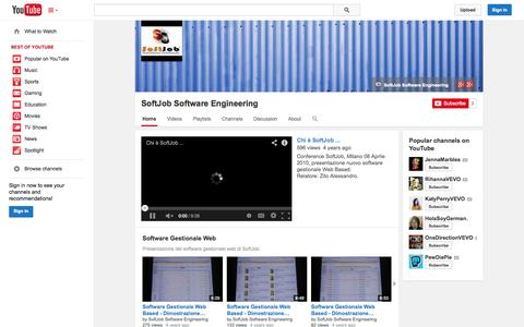 Screenshot of YouTube Page youtube.com - SoftJob Software Engineering  - YouTube - captured Nov. 3, 2014