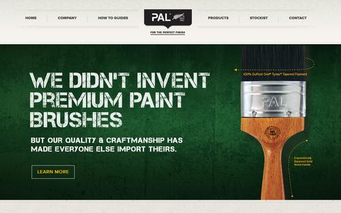 Screenshot of Home Page paintaids.co.nz - Paintaids | PAL® since 1961 - captured June 18, 2015