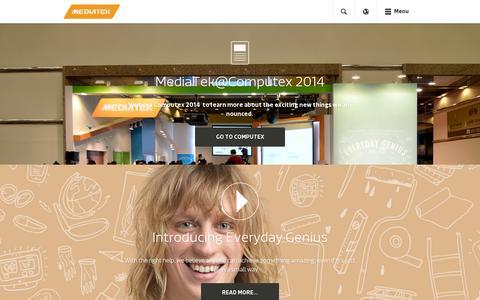 Screenshot of Home Page mediatek.com - MediaTek Inc. - MediaTek - captured July 11, 2014