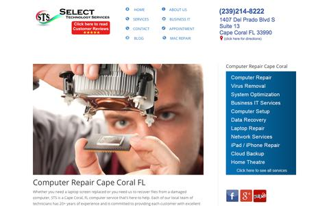 Screenshot of Home Page stsforyou.com - Computer Repair Cape Coral - Repairing Computer for over 20 years - captured June 22, 2019