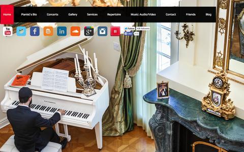 Screenshot of Home Page mikhailpais.com - Mikhail Pais Concert Pianist New York - captured Oct. 7, 2014
