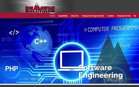 Screenshot of Home Page ironmountainsolutions.com - IronMountain Solutions, Inc. – IronMountain Solutions, Inc.   Huntsville, Alabama - captured Oct. 19, 2016