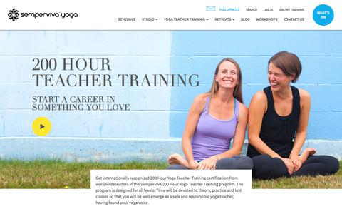 200 Hour Yoga Teacher Training Vancouver - Start Your Career Here    Semperviva – Leading Yoga Teacher Training Vancouver