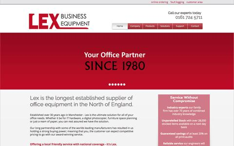 Screenshot of Jobs Page lexbusiness.co.uk - Lex Business Equipment | Photocopiers Manchester, Manchester MFPs - captured Oct. 2, 2014