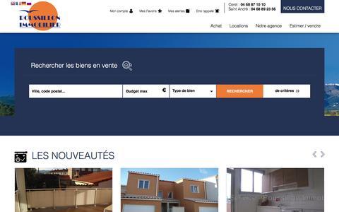 Screenshot of Locations Page roussillonimmobilier.com - Location 66 biens immobiliers dans les Pyrénées-Orientales - captured March 23, 2017