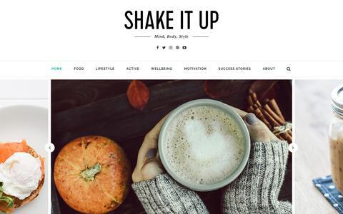 Screenshot of Blog cambridgeweightplan.com - Shake It Up – Cambridge Weight Plan's New Lifestyle Blog - captured Oct. 17, 2016