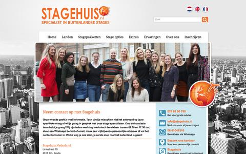 Screenshot of Contact Page stagehuis.nl - Contact Stagehuis - captured Sept. 21, 2018