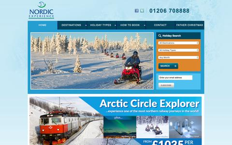 Screenshot of Home Page nordicexperience.co.uk - Nordic Experience | Holidays to Iceland, Norway, Finland, Sweden - captured Oct. 18, 2018
