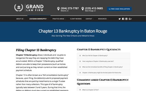 Baton Rouge Chapter 13 Bankruptcy Lawyer | Grand Law Firm