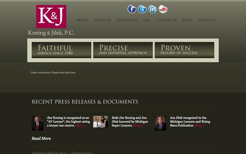 Screenshot of Blog koningjilek.com - Koning and Jilek - Blog - captured Oct. 6, 2014