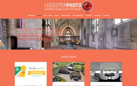 Screenshot of Press Page leicesterphoto.com - News - LeicesterPhoto Services - captured Sept. 28, 2018
