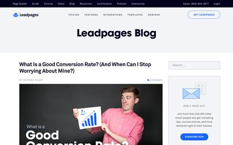 Blog - Leadpages - Mobile Responsive Landing Page Generator