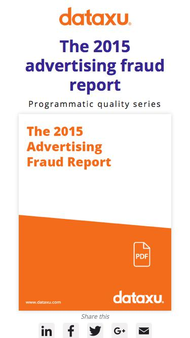 2015 Fraud Report | dataxu programmatic quality series