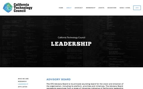 Screenshot of Team Page californiatechnology.org - Leadership — CTC - captured Oct. 1, 2014
