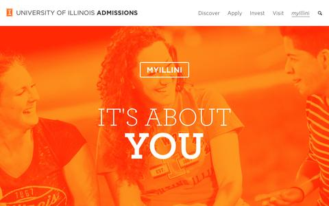 myIllini, Illinois Admissions