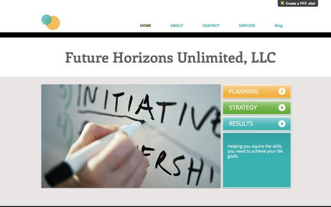 Screenshot of Home Page fhullc.net - Professional Certified Life Coaching - captured Oct. 14, 2017