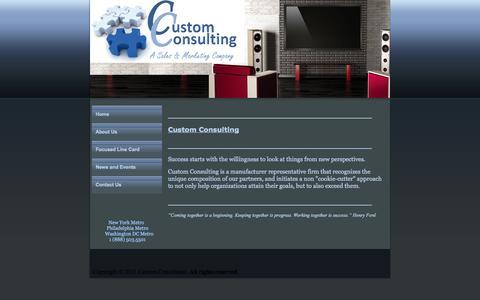 Screenshot of Home Page custom-consulting.com - Custom Consulting, Custom Consulting New York, NY Home - captured Sept. 30, 2014