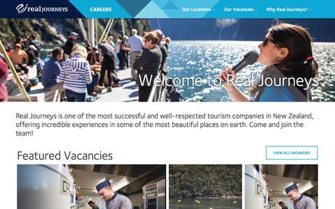 Screenshot of Jobs Page realjourneys.co.nz - Careers - captured June 30, 2018