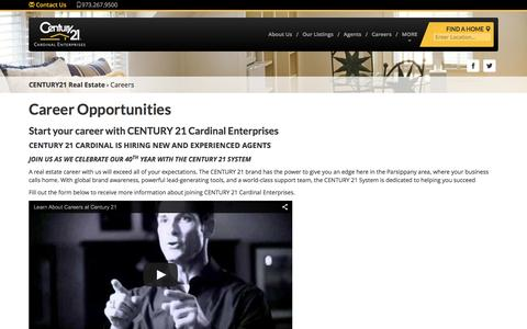 Screenshot of Jobs Page century21cardinal.com - Contact Us | CENTURY 21 - captured Dec. 8, 2015