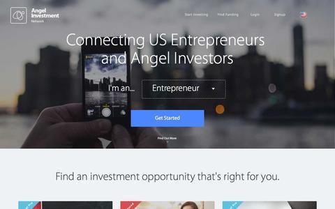 Screenshot of Home Page angelinvestmentnetwork.us - Angel Investment Network USA – Angel Investment, Local & International Business Entrepreneurs - captured Jan. 27, 2016