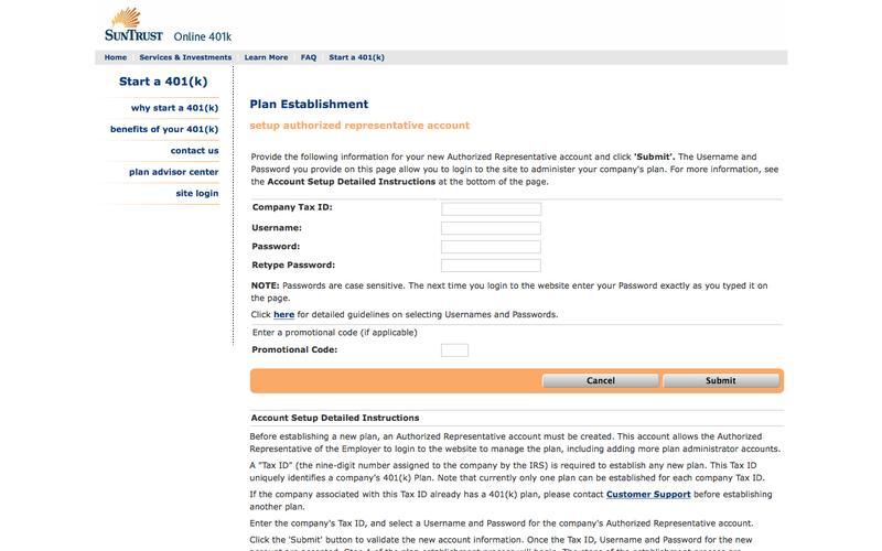SunTrust Online 401k