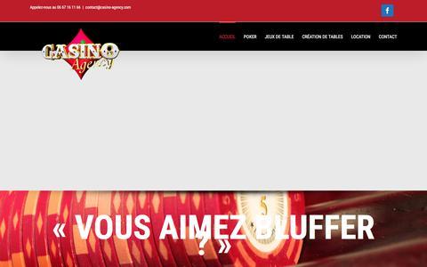 Screenshot of Home Page casino-agency.com - Casino-Agency.com - captured Feb. 17, 2016
